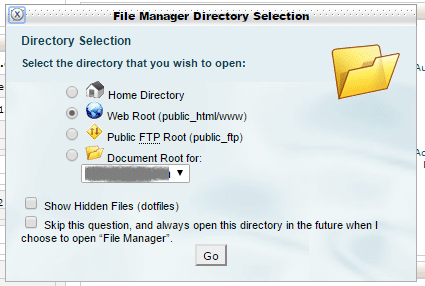 web root file manager