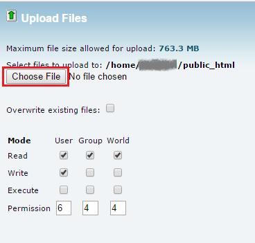 انتخاب فایل وردپرس